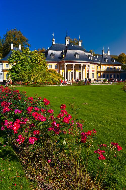 Gardens, Hillside Palace (Bergpalais), Pillnitz Castle, Pillnitz, Saxony, Germany