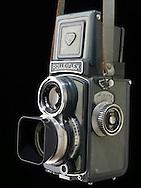 Baby Rolleiflex roll film camera. Grey