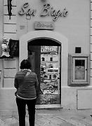 The entrance to the popular San Biagio Ristorante, Matera, Italy.
