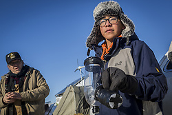 December 4, 2016 - Cannonball, North Dakota, United States - Many came prepared for non-violent direct action, including 18-year-old Derrick Spencer, who drove up with his family from Salt Lake City, Utah, with his homemade gas mask made from plastic bottles.  The Showdown at Standing Rock is a win for Native Tribes. The U.S. Army Corps of Engineers turned down a key permit for a the Dakota Access Pipeline that was slated to drill beneath the Missouri River and through sacred Sioux grounds. Many consider this a historic victory for Native Americans and climate activists who have protested the project for months. (Credit Image: © Michael Nigro/Pacific Press via ZUMA Wire)