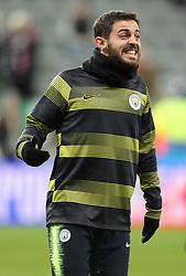 Manchester City's Bernardo Silva warming up before the game