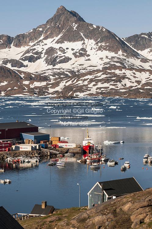 Groenland, Sermersooq, port de Tasilaq // Greenland, Sermersooq, Tasilaq harbour