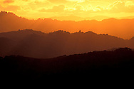 Golden sunset light over the Berkely Hills, from Briones Regional Park, Contra Costa County, California