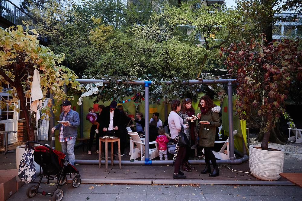 Germany, , 2019/10/17<br /> <br /> Sukkah of BASE Berlin at Golgatha. 17/10/2019. (Photo by Gregor Zielke)