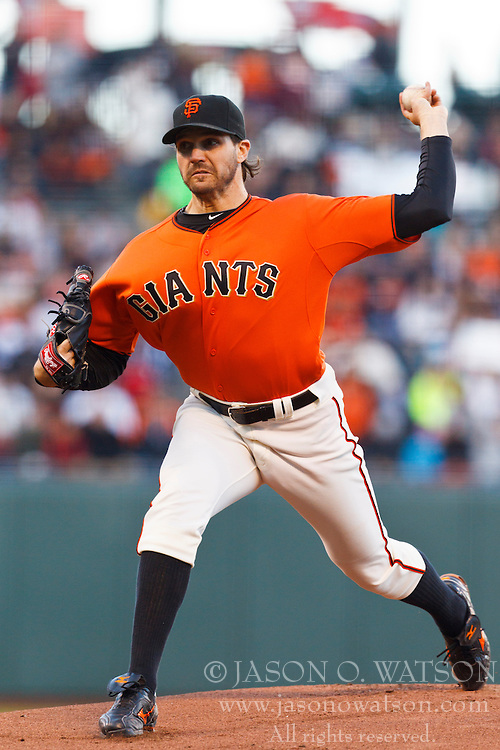 SAN FRANCISCO, CA - JUNE 08:  Barry Zito #75 of the San Francisco Giants pitches against the Texas Rangers during the first inning of an interleague game at AT&T Park on June 8, 2012 in San Francisco, California. (Photo by Jason O. Watson/Getty Images) *** Local Caption *** Barry Zito