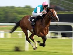 First Eleven ridden by Robert Havlin wins the John Sunley Memorial Handicap Stakes at Newbury Racecourse.