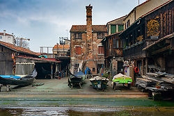 A view of a gondola workshop in Venice. From a series of travel photos in Italy. Photo date: Sunday, February 10, 2019. Photo credit should read: Richard Gray/EMPICS