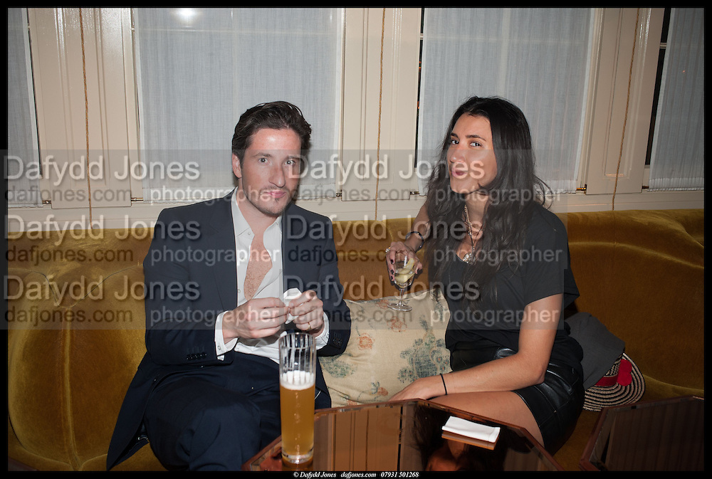BLAISE PATRICK; YOSUZI SYLVESTER, Lisson Gallery reception at Chiltern Firehouse after the openings of work by Marina Abramovic: White Space and Nathalie Djurberg & Hans Berg: The Gates of the Festival, 15 September 2014