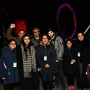 London, England, UK. 31 Dec 2019. Sadiq Khan family attends the 2019 London's New Year's Eve fireworks at the Embankment.
