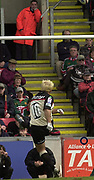 Leicester, Leicestershire, 3rd May 2003, Welford Road Stadium, [Mandatory Credit: Peter Spurrier/Intersport Images],Zurich Premiership Rugby - Leicester Tigers v London Irish<br /> Mark Mapletoft kicking an early penalty goal
