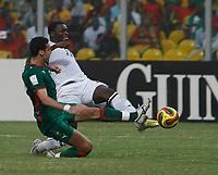 Photo: Steve Bond/Richard Lane Photography.<br /> Ghana v Morocco. Africa Cup of Nations. 28/01/2008. Sulley Muntari scores goal no2