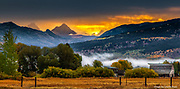 Sunrise in Victor, Idaho, September 2016