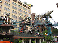 Children of all ages enjoy exploring the eclectic City Museum in downtown St. Louis, Missouri.