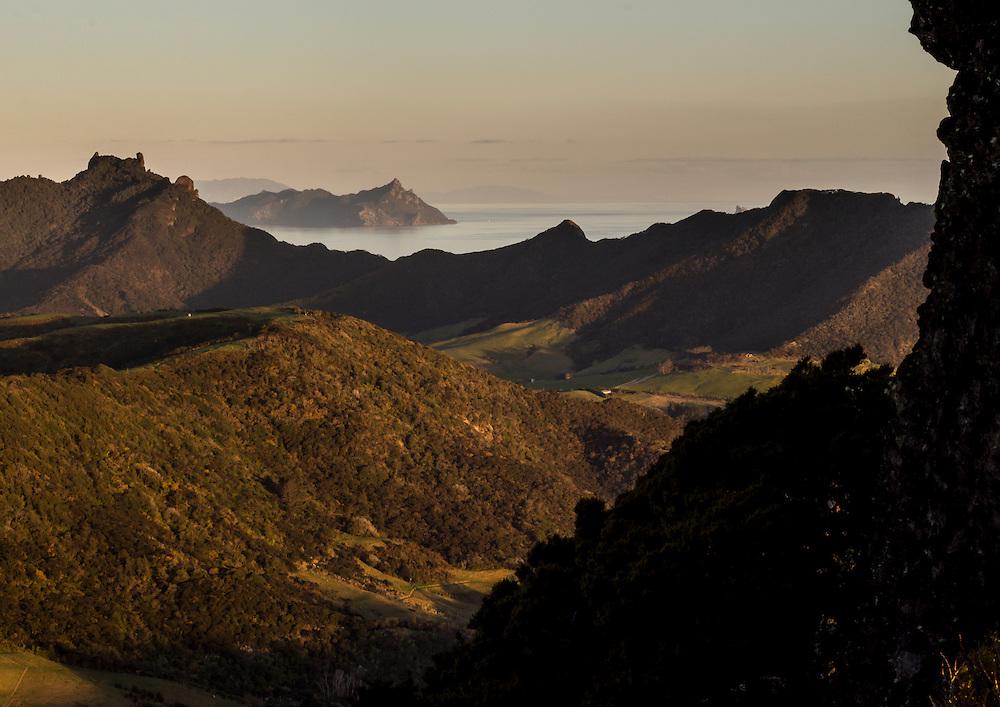 from the top of mt manaia towards bream head (te wara)