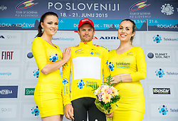 OVECHKIN Artem (Russia) of Rusvelo, Winner in Overall classification during flower ceremony after the Stage 2 of 22nd Tour of Slovenia 2015 from Skofja Loka to Kocevje (183 km) cycling race  on June 19, 2015 in Slovenia. Photo by Vid Ponikvar / Sportida