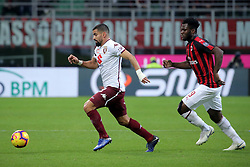 December 9, 2018 - Milan, Milan, Italy - Tomas Rincon #88 of Torino FC competes for the ball with Frank Kessie #79 of AC Milan during the serie A match between AC Milan and Torino FC at Stadio Giuseppe Meazza on December 09, 2018 in Milan, Italy. (Credit Image: © Giuseppe Cottini/NurPhoto via ZUMA Press)