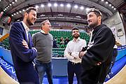 Giorgio Gerosa, Federico Pasquini, Edoardo Casalone, Gianmarco Pozzecco<br /> Banco di Sardegna Dinamo Sassari - ZZ Leiden<br /> Fiba Europe Cup 2018-2019 Round of 16<br /> Sassari, 13/03/2019<br /> Foto L.Canu / Ciamillo-Castoria