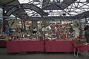 Stalls for antiques and collectables Greenwich market, London, England