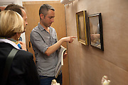 PABLO BRONSTEIN, Pablo Bronstein, Sketches for Regency Living. Discussion and lunch. ICA. The Mall. London. 7 June 2011. <br /> <br />  , -DO NOT ARCHIVE-© Copyright Photograph by Dafydd Jones. 248 Clapham Rd. London SW9 0PZ. Tel 0207 820 0771. www.dafjones.com.