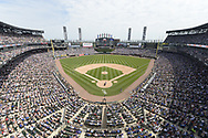 CHICAGO - JULY 07:  A general view of Guaranteed Rate Field as a crowd of 38,554 watch the Major League Baseball game between the Chicago White Sox and Chicago Cubs on July 7, 2019 at Guaranteed Rate Field in Chicago, Illinois.  (Photo by Ron Vesely)