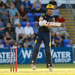Glamorgan's Nick Selman in action today <br /> <br /> Photographer Simon King/Replay Images<br /> <br /> Vitality Blast T20 - Round 8 - Glamorgan v Gloucestershire - Friday 3rd August 2018 - Sophia Gardens - Cardiff<br /> <br /> World Copyright © Replay Images . All rights reserved. info@replayimages.co.uk - http://replayimages.co.uk
