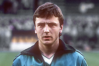 David Campbell, professional footballer, N Ireland & Nottingham Forest, Notts Forrest, 19860410DC1.<br /> <br /> Copyright Image from Victor Patterson, 54 Dorchester Park, <br /> Belfast, UK, BT9 6RJ<br /> <br /> t1: +44 28 9066 1296 (from Rep of Ireland 048 9066 1296)<br /> t2: +44 28 9002 2446 (from Rep of Ireland 048 9002 2446)<br /> m: +44 7802 353836<br /> <br /> e1: victorpatterson@me.com<br /> e2: victorpatterson@gmail.com<br /> <br /> www.victorpatterson.com<br /> <br /> Please see my Terms and Conditions of Use at VICTORPATTERSON.COM. It is IMPORTANT that you familiarise yourself with them.<br /> <br /> Images used on the Internet must be visibly watermarked i.e. ©VICTORPATTERSON.COM within the body of the image and copyright metadata must not be deleted. Images used on the Internet have a size restriction of 4kbs and are chargeable at the then current NUJ rates.<br /> <br /> This image is only available for the use of the download recipient i.e. television station, newspaper, magazine, book publisher, etc, and must not be passed on to any third party. It is also downloaded on condition that each and every usage is notified within 7 days to victorpatterson@me.com<br /> <br /> The right of Victor Patterson to be identified as the author is asserted in accordance with The Copyright Designs And Patents Act (1988).