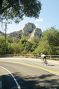 Cyclists on Old Topanga Canyon Road