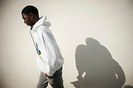 An african migrant. Hondarribia (Basque Country). November 3, 2018. A group of volunteers has created a host network to serve migrants and inform about the public services they are entitled to and the ways to cross the border. This group of volunteers is avoiding a serious humanitarian problem Irun, the Basque municipality on the border with Hendaye. As the number of migrants arriving on the coasts of southern Spain incresead, more and more migrants are heading north to the border city of Irun. French authorities have reacted by conducting random checks as far as the city of Bordeaux, more than 200 kilometers north of the border. Migrants who are caught are then deported back to Irun. (Gari Garaialde / Bostok Photo).