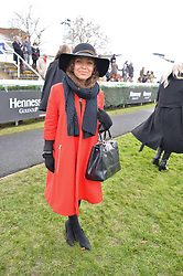 ANTONIA THOMAS at the 2015 Hennessy Gold Cup held at Newbury Racecourse, Berkshire on 28th November 2015.