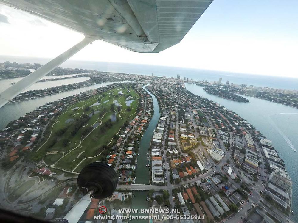USA/Miami/20150808 - Rondvlucht boven Miami