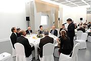 Koningin Beatrix luncht met de president van Slowakije Ivan Gasparovic in het Van Abbe Museum.<br /> <br /> Queen Beatrix lunch with the President of Slovakia Ivan Gasparovic in the Van Abbe Museum.<br /> <br /> On the photo / Op de foto:  Commissaris van de Koningin Wim van den Donk speecht voorafgaand de lunch met Koningin Beatrix len de president van Slowakije Ivan Gasparovic