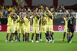 July 19, 2018 - Glendale, Arizona, U.S - Club America applause the crowd after the game against Manchester United Thursday, July 19, 2018, at University of Phoenix Stadium in Glendale, Arizona.  Manchester United tied 1-1 against Club America. (Credit Image: © Jeff Brown via ZUMA Wire)