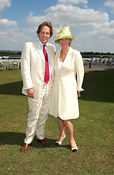 The EARL & COUNTESS OF MARCH & KINRARA at the 4th day of the annual Glorious Goodwood horseracing festival held at Goodwood Racecourse, West Sussex on 30th July 2004.