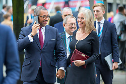 © Licensed to London News Pictures. 01/10/2019. Manchester, UK. James Cleverly & wife Hannah at the Conservative Conference today on the third day of the Conservative Party Conference at Manchester Central in Manchester. Photo credit: Andrew McCaren/LNP