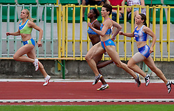 Sabina Veit, Merlene Ottey, Kristina Zumer, Pia Tajnikar, Tina Murn during women 100m finals at Slovenian National Championships in athletics 2010, on July 17, 2010 in Velenje, Slovenia. (Photo by Vid Ponikvar / Sportida)