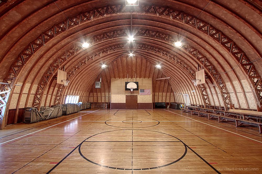 A vintage basketball court in Eddyville, Nebraska, February 16, 2011.