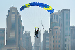 February 5, 2018 - Dubai, United Arab Emirates - One of the most spectacular drop zones in the world with Skydive Dubai, the leading diving company in the emirate..On Monday, February 5, 2018, in Dubai, United Arab Emirates. (Credit Image: © Artur Widak/NurPhoto via ZUMA Press)