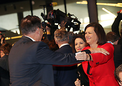 19.01.2019, Kleine Olympiahalle, Muenchen, GER, CSU Parteitag in München, im Bild Ilse Aigner begrüßt Gerd Müller // during the CSU party congress at the Kleine Olympiahalle in Muenchen, Germany on 2019/01/19. EXPA Pictures © 2019, PhotoCredit: EXPA/ SM<br /> <br /> *****ATTENTION - OUT of GER*****