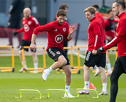 CARDIFF, WALES - Tuesday, March 23, 2021: Wales' Joe Allen during a training session at the Vale Resort ahead of the FIFA World Cup Qatar 2022 Qualifying game against Belgium. (Pic by David Rawcliffe/Propaganda)