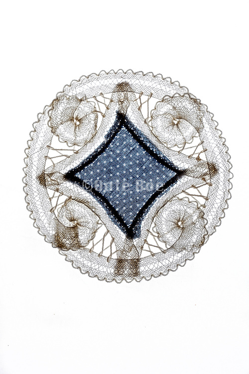 decorative doily made from lace and fabric