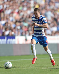 Reading's Chris Gunter makes a break down the wing - Photo mandatory by-line: Nigel Pitts-Drake/JMP - Tel: Mobile: 07966 386802 03/08/2013 - SPORT - FOOTBALL -  Madejski Stadium - Reading -  Reading v Ipswich Town - Sky Bet Championship