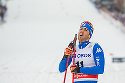 March 7, 2018 - Drammen, NORWAY - 180307 Federico Pellegrino of Italy looks dejected after the  men's sprint semifinale classic technique during the FIS Cross-Country World Cup on March 07, 2018 in Drammen. .Photo: Fredrik Varfjell / BILDBYRÃ…N / kod FV / 150077 (Credit Image: © Fredrik Varfjell/Bildbyran via ZUMA Press)
