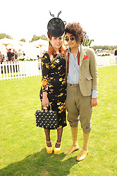 PALOMA FAITH and JOSH WELLER at the Cartier International Polo at Guards Polo Club, Windsor Great Park, Berkshire on 25th July 2010.