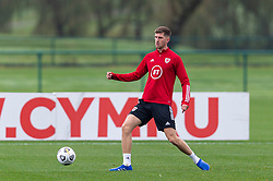 CARDIFF, WALES - Monday, October 5, 2020: Wales' Chris Mepham during a training session at the Vale Resort ahead of the International Friendly match against England. (Pic by David Rawcliffe/Propaganda)