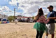 Anita's Street Market hosts their annual community Christmas Party on December 24, 2015, Tucson, Arizona, USA.