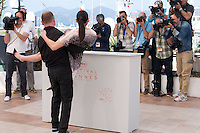 Actress Nailia Harzoune and director Karim Dridi at the Chouf film photo call at the 69th Cannes Film Festival Monday 16th May 2016, Cannes, France. Photography: Doreen Kennedy