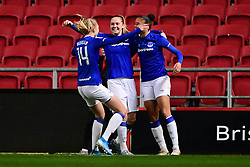 Lucy Graham of Everton Women celebrates scoring his sides first goal of the game  - Mandatory by-line: Ryan Hiscott/JMP - 17/02/2020 - FOOTBALL - Ashton Gate Stadium - Bristol, England - Bristol City Women v Everton Women - Women's FA Cup fifth round