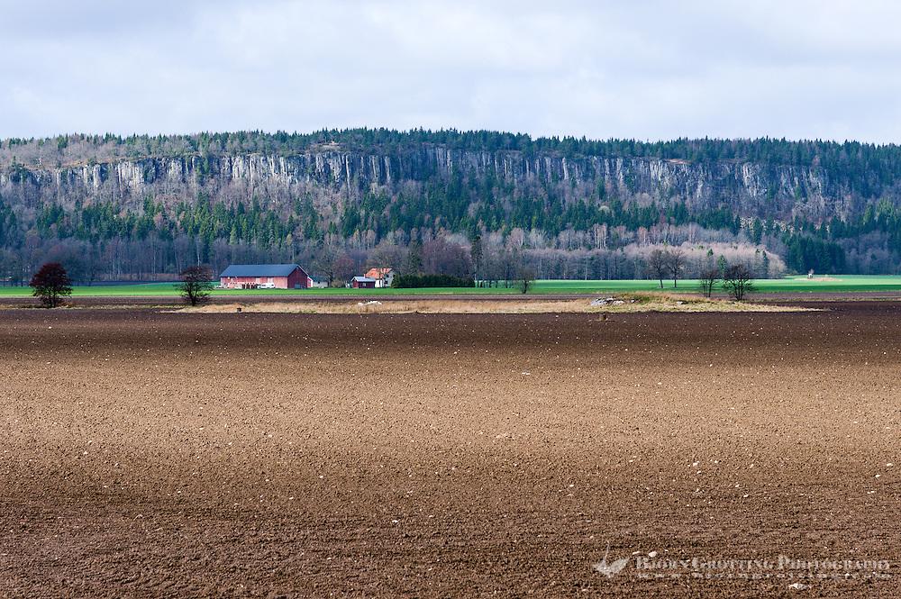 Sweden, Hunneberg table mountain.
