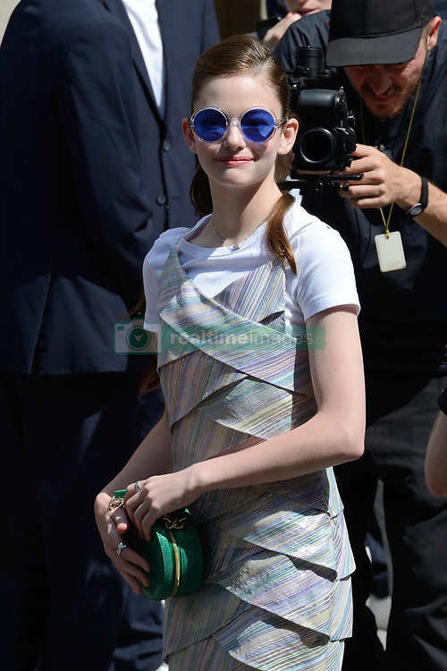 Mackenzie Foy attending the Chanel Haute Couture Paris Fashion Week Fall/Winter 2018/19 held in Paris, France on july 03, 2018. Photo by Aurore Marechal/ABACAPRESS.COM