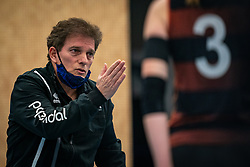 Coach Avital Selinger of Talent Team  in action during the first league match in the corona lockdown between Talentteam Papendal vs. Sliedrecht Sport on January 09, 2021 in Ede.